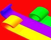 Цветная лента 3D