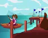 Побег девочки в лодке