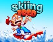 Фред на лыжах