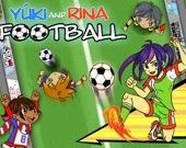 Юки и Рина играют в футбол