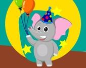 Забавный слон - Пазл