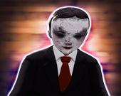 Пиксельная дьявольская кукла