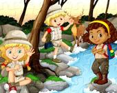 Детский лагерь-кемпинг пазл