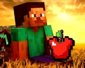 Майнкрафт - стрельба по яблоку