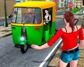 За рулем рикши