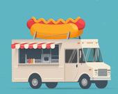 Пазл: Фургончики с едой
