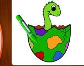 Раскраска: Динозавры, часть 1