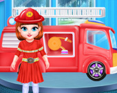 Малышка Тейлор мечтает быть пожарным