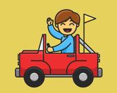 Раскраска игрушечных грузовиков