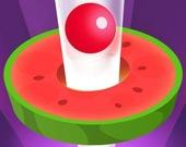 Спиральная башня из фруктов