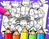 Черепашки ниндзя - Раскраска