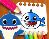 Книжка-раскраска Маленькие акулы