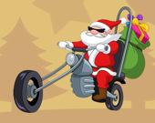 Водитель Санта: раскраска
