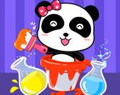 Крошка панда и студия по смешиванию цветов