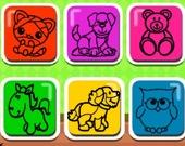 Легкая игра-раскраска для детей