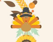 День Благодарения: Соедени 3 предмета