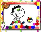 Время футбола: раскраска