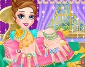 Дизайн ногтей Ледяной принцессы
