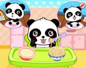 Уход за детенышем панды