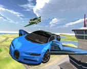 Суперский летающий автомобиль 3d
