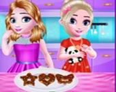 Маленькие девочки на кухне