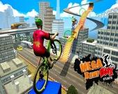 Гоночный BMX: невозможные велосипедные трюки