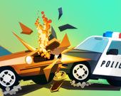 Нападение полицейской машины