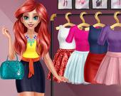 Блестящий макияж принцессы-русалки