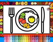 Раскрась и укрась обеденную тарелку