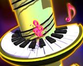Прыгающий мяч по клавишам пианино