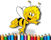 Раскраска: Пчела