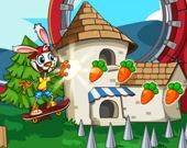 Кролик-скейтер