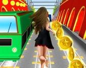 Принцесса бежит по подземке