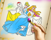 Принцесса: Раскраска