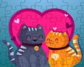 Пазл: Кошачья любовь