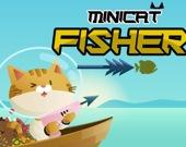 Мини-кот на рыбалке