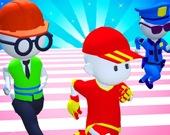 Падающие ребята 3D - Королевская гонка