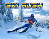 Спешащий лыжник