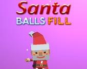 Санта наполняет шариками
