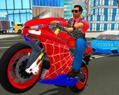 Супер трюки на мотоцикле паук: симулятор 3D