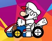 Марио за рулем - Раскраска