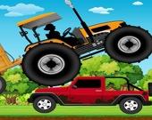 По холмам на тракторе