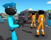 Стикмен-полицейский: перевозка заключенных