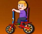 Пазл: Мультипликационный велосипед