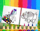 Раскраска: Забавные животные