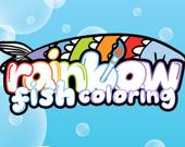 Раскраска: Радужная рыба