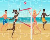 Пляжный волейбол. Пазл
