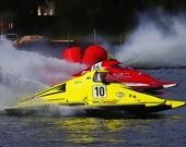 Скоростная моторная лодка - Пазл