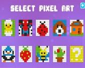 Пиксельная раскраска