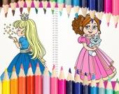 Принцессы - раскраска